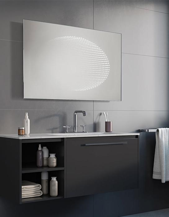 Lustro łazienkowe 3d Eclipse Led Z Oświetleniem Led Lustrodlaciebie