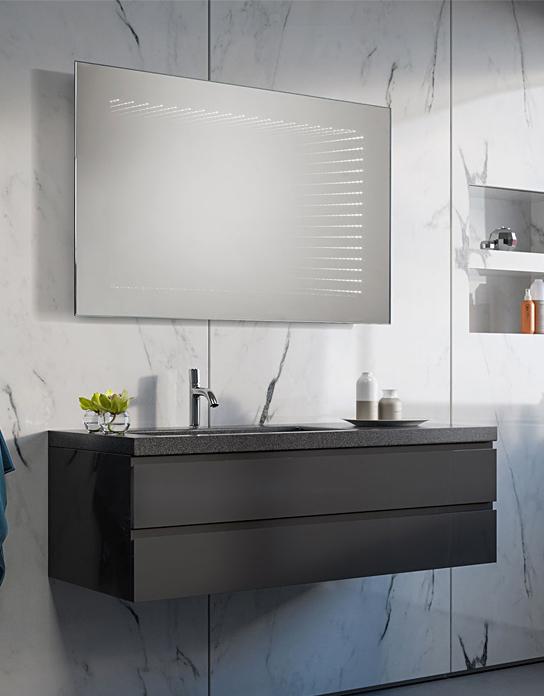 Lustro łazienkowe 3d Illusion Led Z Oświetleniem Led Lustrodlaciebie