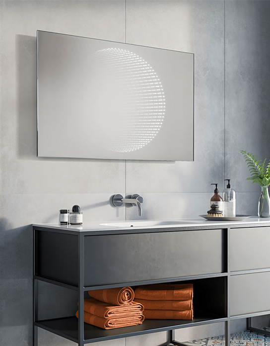 Lustro łazienkowe 3d Vision Led Z Oświetleniem Led Lustrodlaciebie