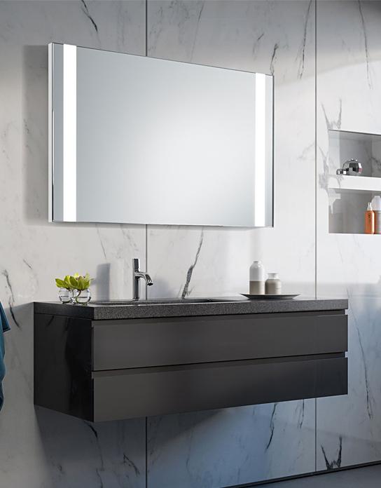 Lustro łazienkowe Panorama Led Z Oświetleniem Led Lustrodlaciebie