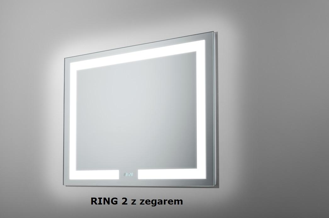 Lustro łazienkowe Ring 2 Led Z Oświetleniem Led Lustrodlaciebie