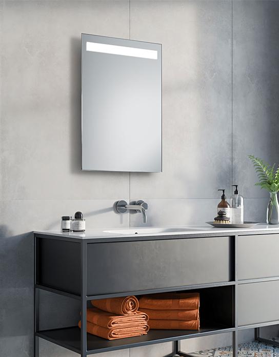 lustro azienkowe simplex led z o wietleniem led lustrodlaciebie. Black Bedroom Furniture Sets. Home Design Ideas