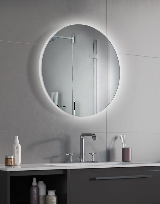 Lustro łazienkowe Syriusz Led Z Oświetleniem Led Lustrodlaciebie