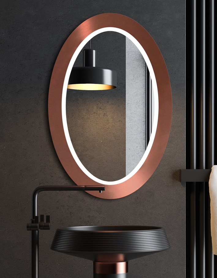 Lustro LED OVAL BOLD Copper