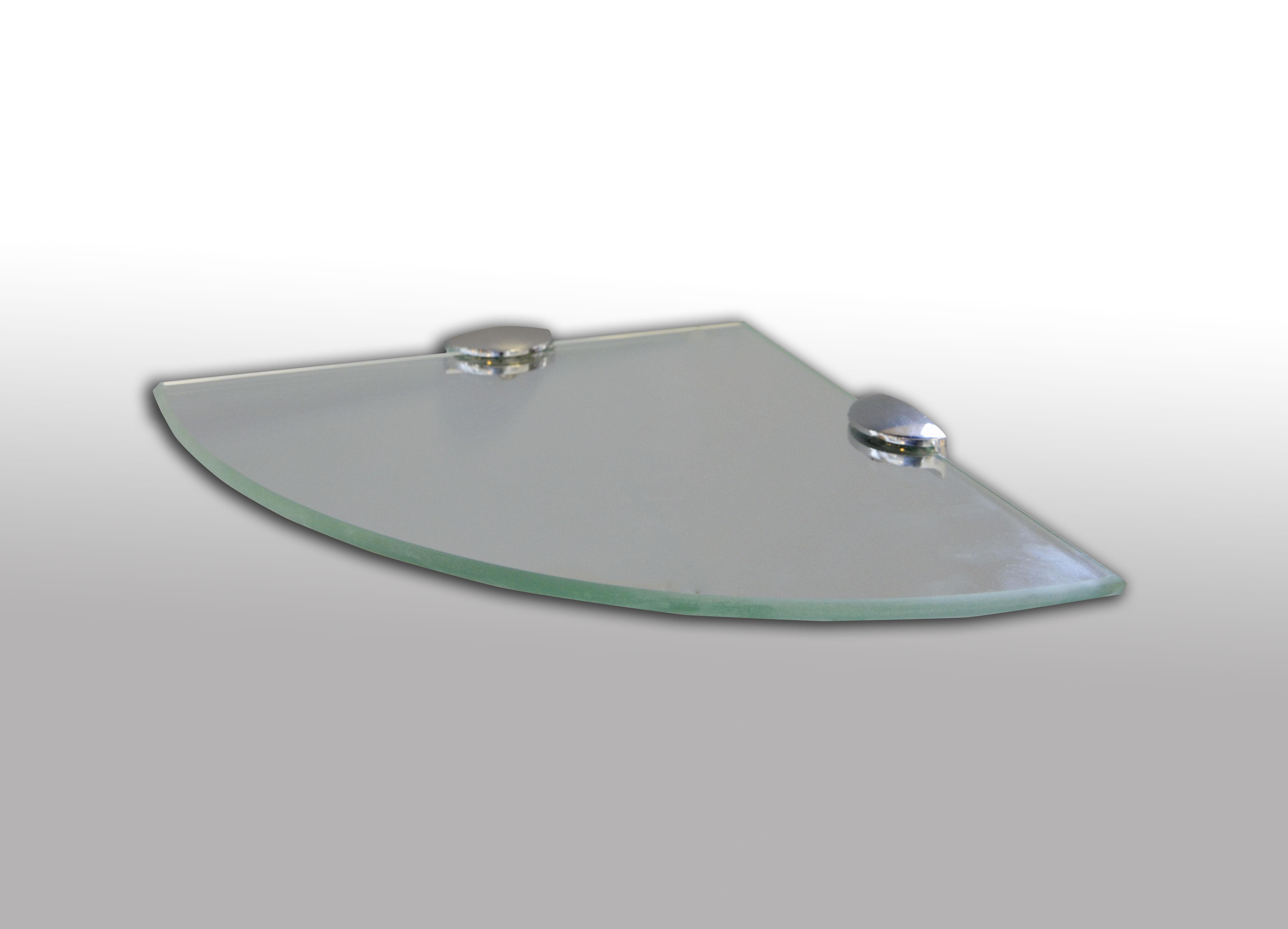 Półka łazienkowa Narożna Transparentna